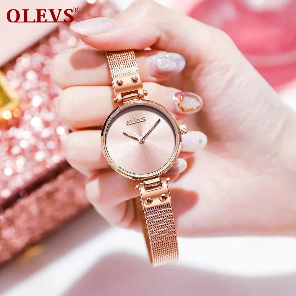 애플워치 스트랩 Women's wristwatch reloj hombre Ladies Simple Fashion Quartz Watches Bracelet Mesh Women Watch montre homme relogio