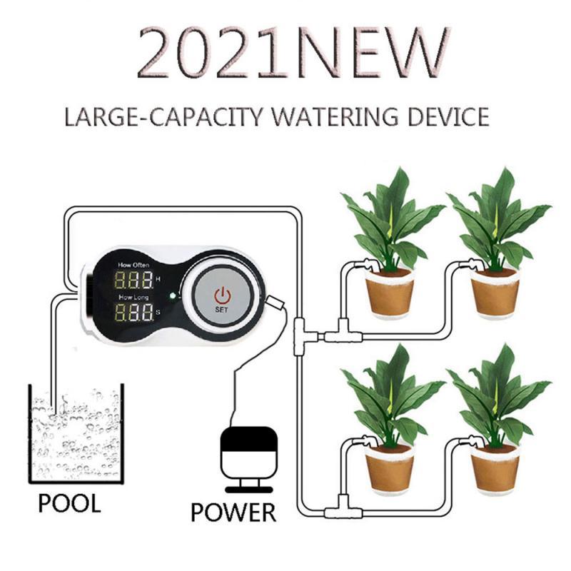 2021 جديد حار مضخة نظام الموقت في الهواء الطلق التلقائي سقي جهاز التحكم بمضخة الزهور النباتات المنزل الرش بالتنقيط جهاز الري