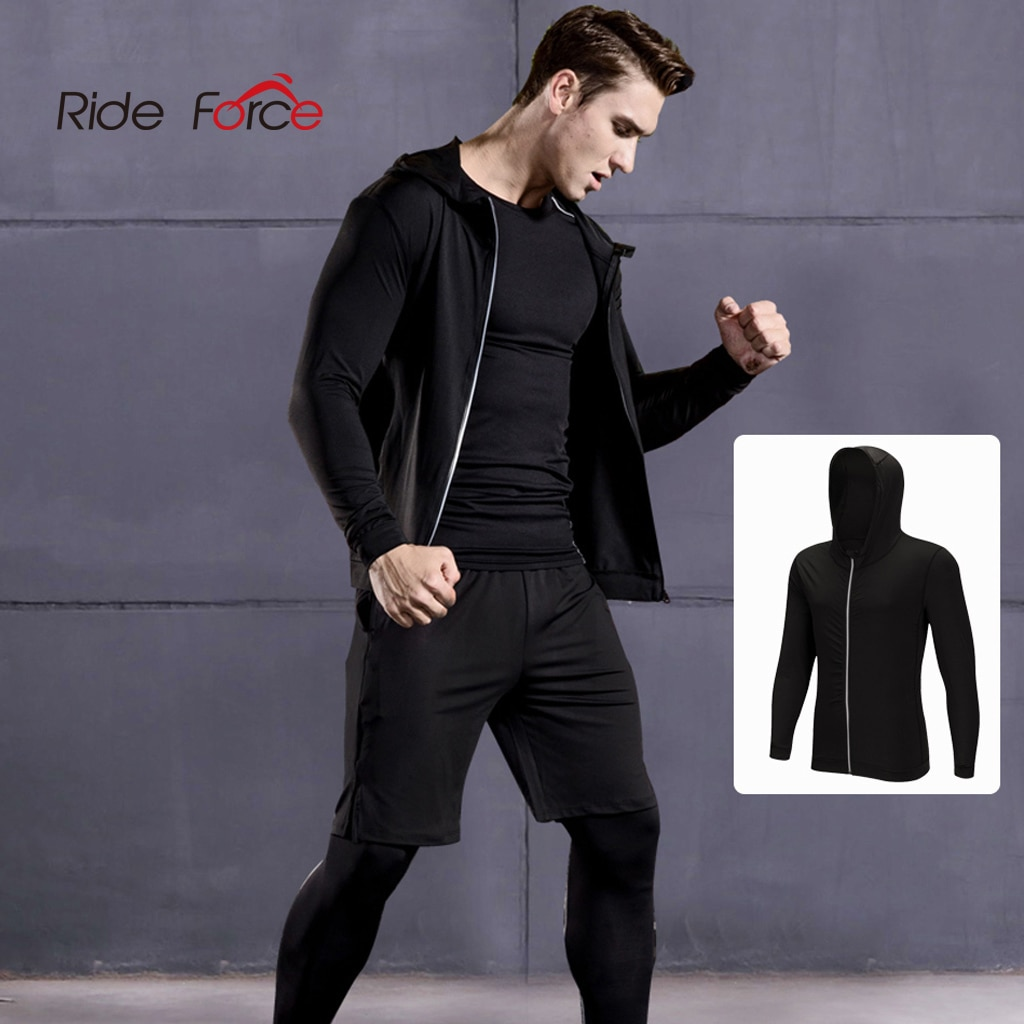 Abrigo deportivo de manga larga para hombre, funda de compresión para exteriores, ropa para trotar, gimnasio, entrenamiento, medias de disfraz