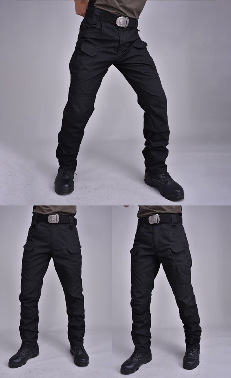 IX7 Tactical pants Cargo Pants Elastic Multiple Pocket Military Male Trousers Waterproof wear-resist