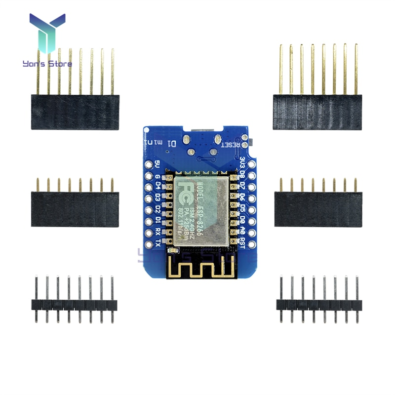 WeMos D1 MINI ESP8266 ESP-12F WIFI Development Board CH340 CH340G NodeMCU Lua IOT Board 3.3V With Pins Bluetooth Module недорого