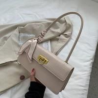 autumn western style portable stone pattern silk scarf underarm bag new style 2021 popular one shoulder portable female bag