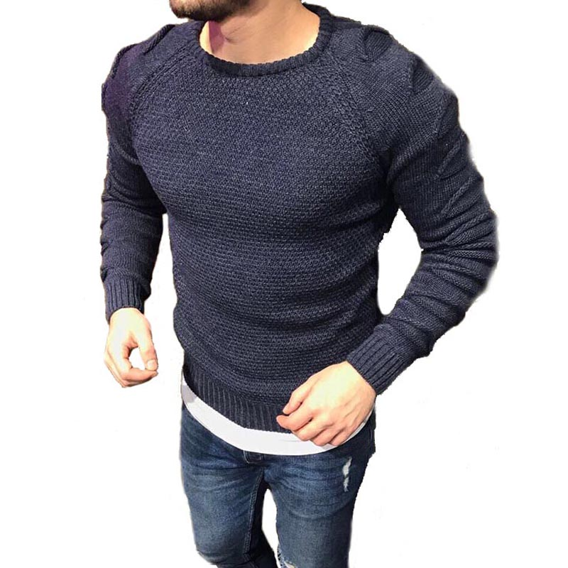 Sweater Men Autumn Winter Casual Long Sleeve Knitted Pullover Men O-Neck Solid Mens Sweaters 2018 Brand New mens sweaters new classic simplicity pullover o neck sweater men long sleeves grey black teenagers sweaters