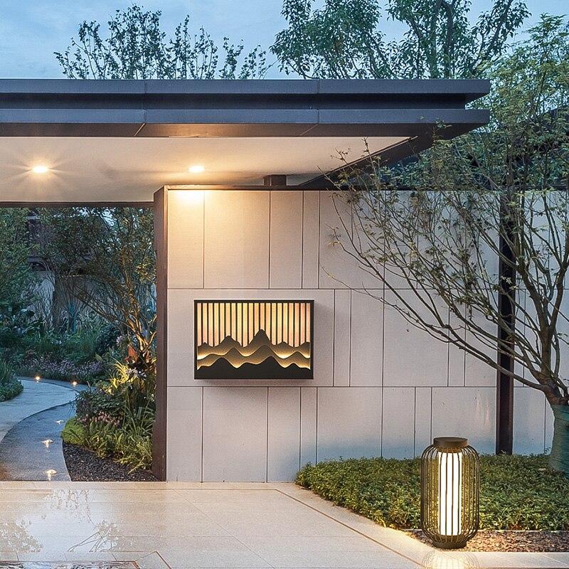 China outdoor wall lamp modern art waterproof wall lamp garden lamp courtyard electrical wall lamp enlarge