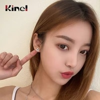 kinel authentic 925 sterling silver cz exquisite stackable star earrings for women jewelry wedding day gift