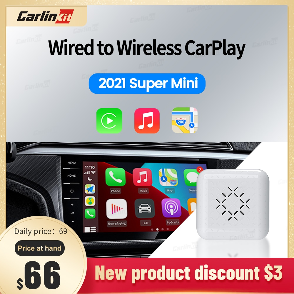 Carlinkit 2021 3,0 Новое миниатюрное Проводное и беспроводное быстрое подключение подходит для автомобильного проигрывателя Audi Benz Volvo Mazda VW Plug-and-Play