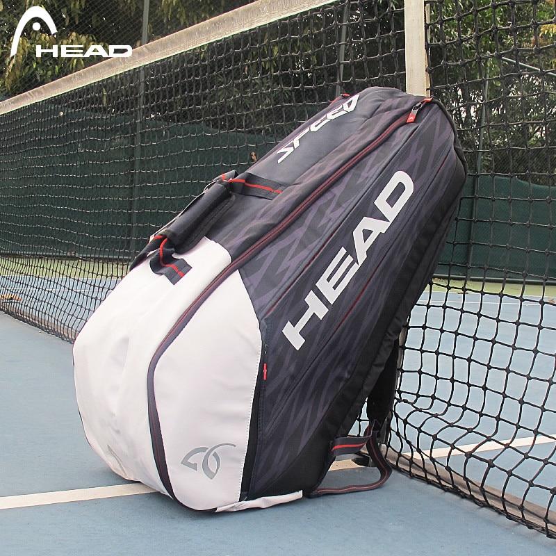 Portable Tennis Bag HEAD Tenis Racket Backpack Djokovic Same Type Tenis Raquete De Padel Bag Clothing Water Cup Storage Backpack head сумка для 9 ракеток head djokovic 9r supercombi