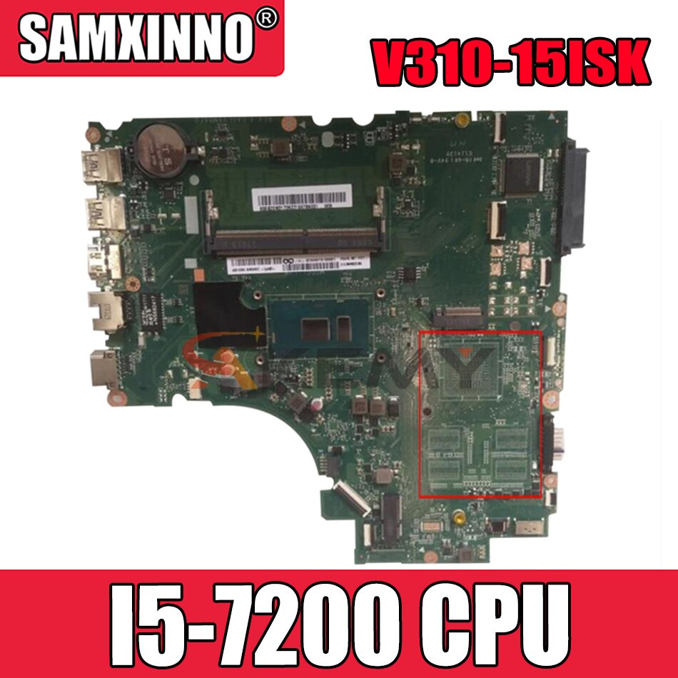 Akemy DA0LV6MB6F0 هو مناسبة لينوفو E52-80 V310-15ISK V310-15IKB دفتر اللوحة وحدة المعالجة المركزية I5 7200 DDR4 4G RAM 100% اختبار موافق