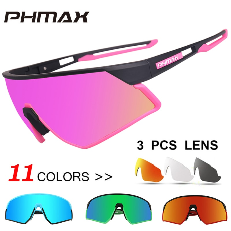 Phmax mulheres ultraleve polarizado ciclismo óculos de sol 11 cores esportes ao ar livre óculos de bicicleta óculos