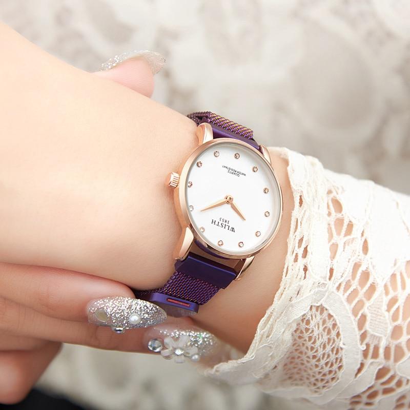 Korean Version Of Simple Fashion Magnetic Buckle Female Students Women's Watches Waterproof Quartz Watch For Women Wristwatch enlarge