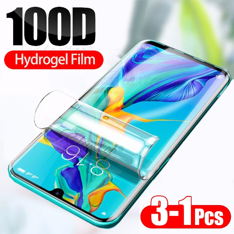 Película de hidrogel suave 100D, cristal templado para huawei P30 P20 Lite pro, protector de pantalla de cobertura completa en huawey p 30 20 p30lite p30pro