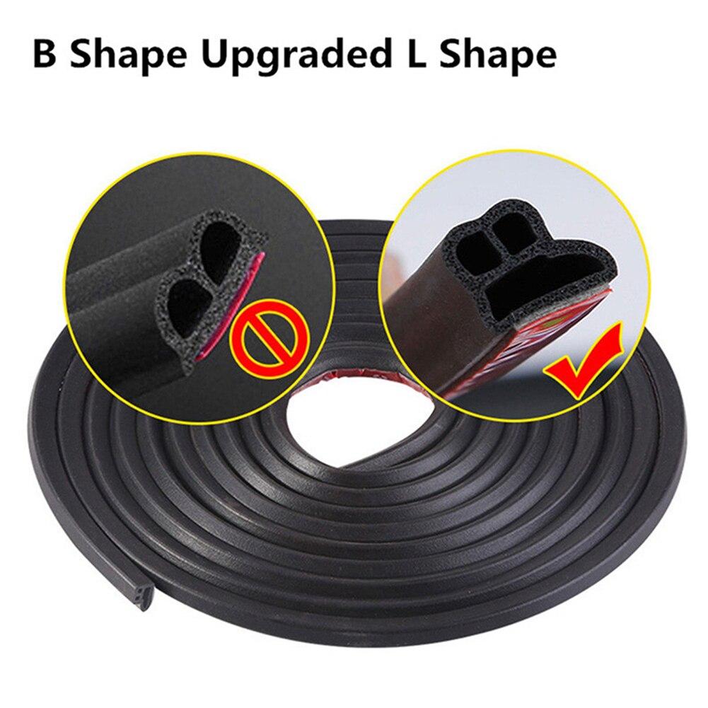 Accessories Bumper Strip Car Door L-shaped Black EPDM Rubber 2 Meter Edge