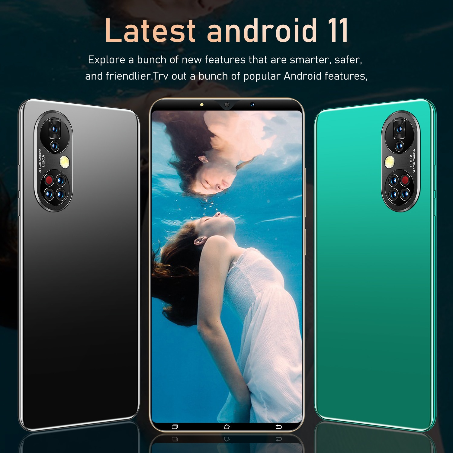 P50 Pro Global Version Smartphone 16GB+512GB 5.3inch Full Screen 4950mAh With Fingerprint Mobile phones Android11 Cellphone enlarge