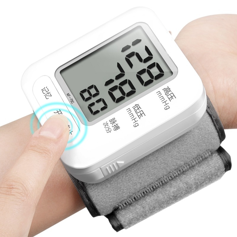 Equipo Médico tonómetro médico Monitor de pulso de presión arterial brazo superior pantalla Lcd de voz automática cuidado preciso Digital