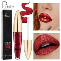 18colors diamond glitter lipquid lipstick non stick cup nutritious matte nutritious pigment waterproof liquid lipstick