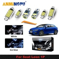 12pcs 100 error for free led interior reading dome map lights bulb kit for seat for leon mk2 1p 1p1 2005 2012 car accessories