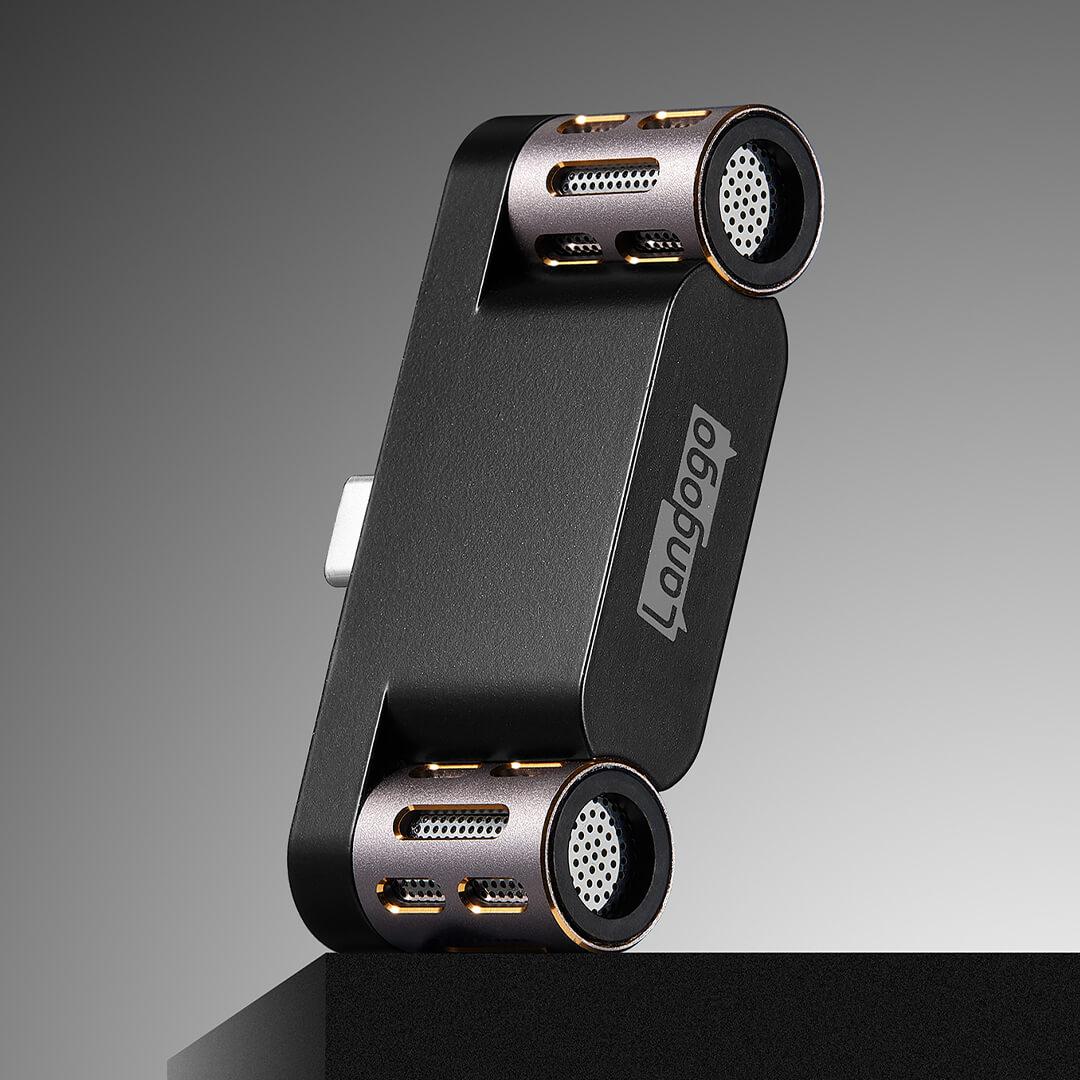 Langogo Mini Voice recorder microphone Receive sound long distances 104 languages transcribed