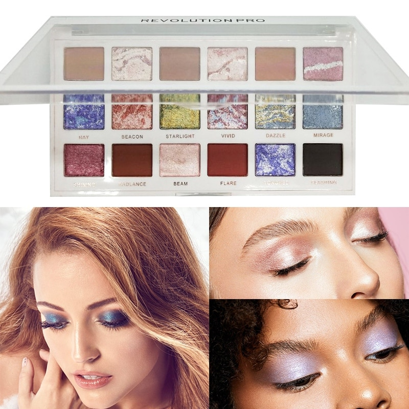 Impermeable 18 colores sombra de ojos creativo brillo mate sombra de ojos a prueba de manchas Colorfast ojos cosméticos paleta