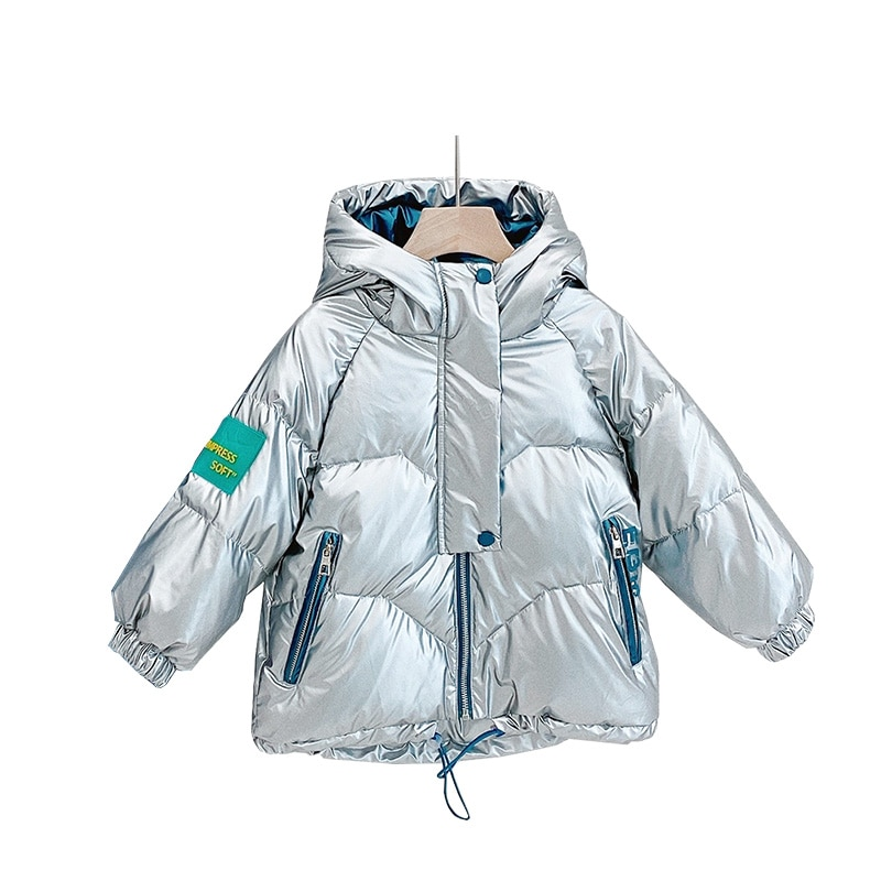 Winter Children's Shiny Personality Down Jacket Boys and Girls Warm Down Jacket