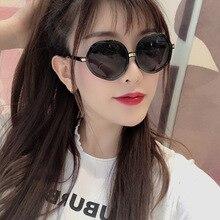 2020 Retro Irregular Sunglasses Brand Designer Women Metal Transparent Sun Glasses UV400 Oversized S