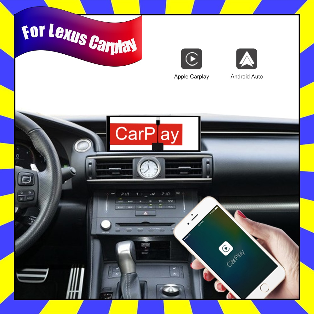 Inalámbrico Apple CarPlay Android Auto actualización de coche pantalla para Lexus Rc300f 350f RC 300F Rc200t GPS de Audio Multimedia navegación unidad de cabeza