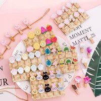 10pcslot kawaii colorful design memo paper clips stationery clothespin craft clips pegs