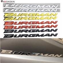KODASKIN moto 3D soulever Burgman autocollants autocollants emblème pour Suzuki Burgman AN125 AN200 AN400 AN650 2002-2020