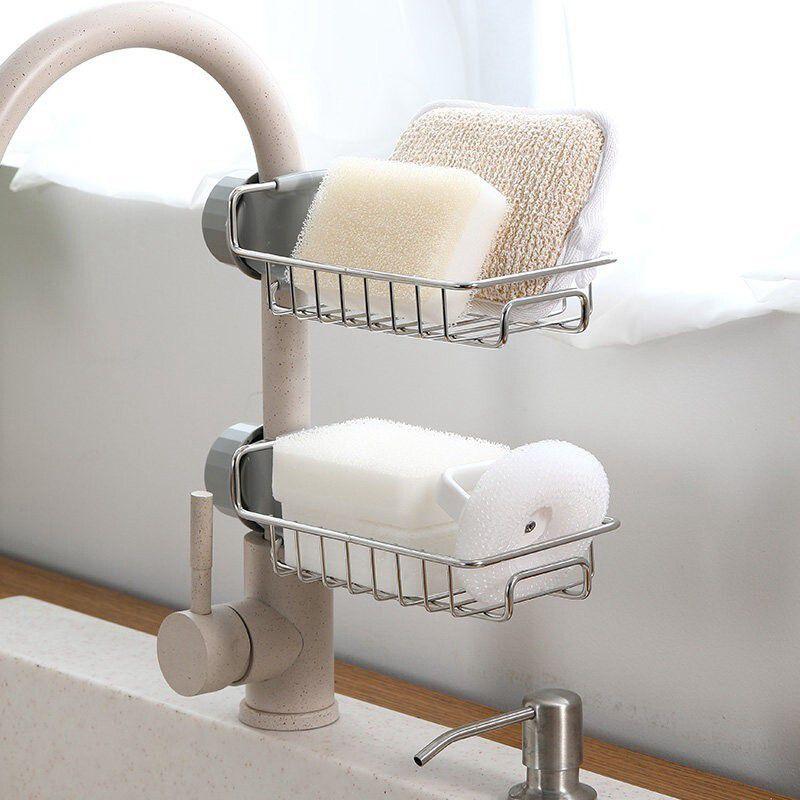Estante de secado de platos ajustable de acero inoxidable, cesta de filtro telescópica, organizador para fregadero de cocina, estante de drenaje, suministros de herramientas de cocina