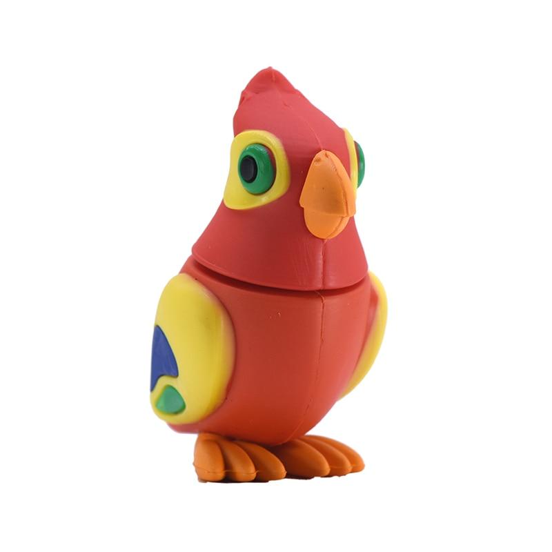 Lindas aves unidad Flash USB Pen Drive U Stick 2GB 4GB 8GB 16GB 32GB 64GB 128GB de dibujos animados loro Pendrive de memoria Flash