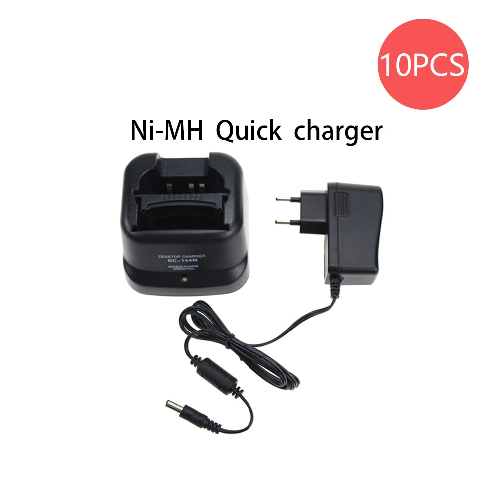 10X Walkie Talkie Charger for Icom IC-A6 IC-A6E IC-A24 IC-A24E IC-F3GT IC-F3GS IC-F4GT IC-F4GS IC-F11 IC-F11BR IC-F11S IC-F12