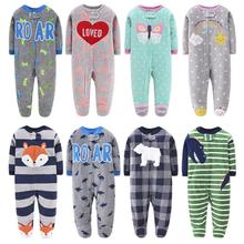 New 2021 baby rompers for girl clothing pink cartoon new born baby clothes one pieces pajamas fleece