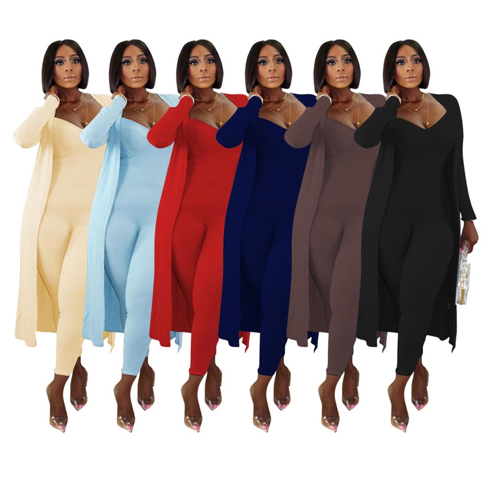 two piece set women 2 piece set women outfits long sleeve cardigans jumpsuit fall clothes for female 2020 2 pieces sets outfits