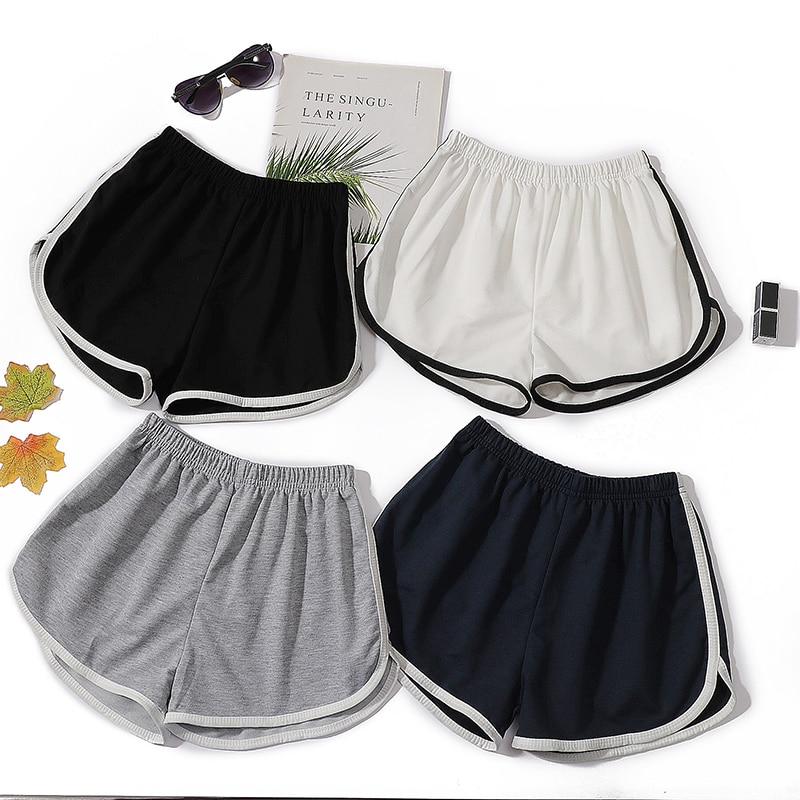 Summer New Shorts Female Sports Black New Style Loose Casual Women's Shorts Korean Student High Wa