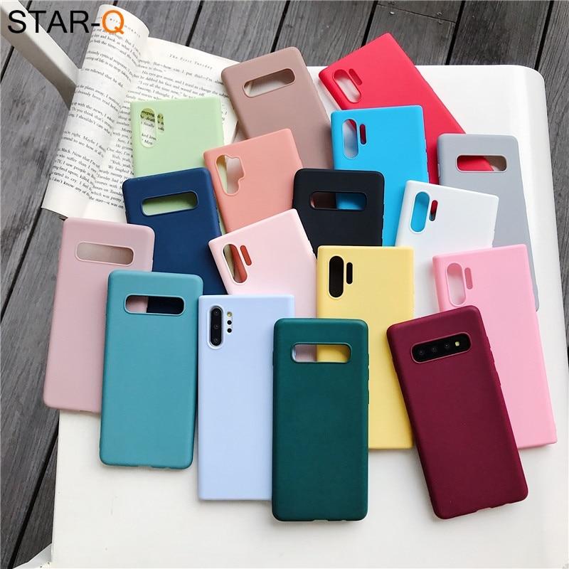 candy color silicone phone case for samsung galaxy note 10 9 8 s10 s10e s9 s8 s20 plus e galaxi matt