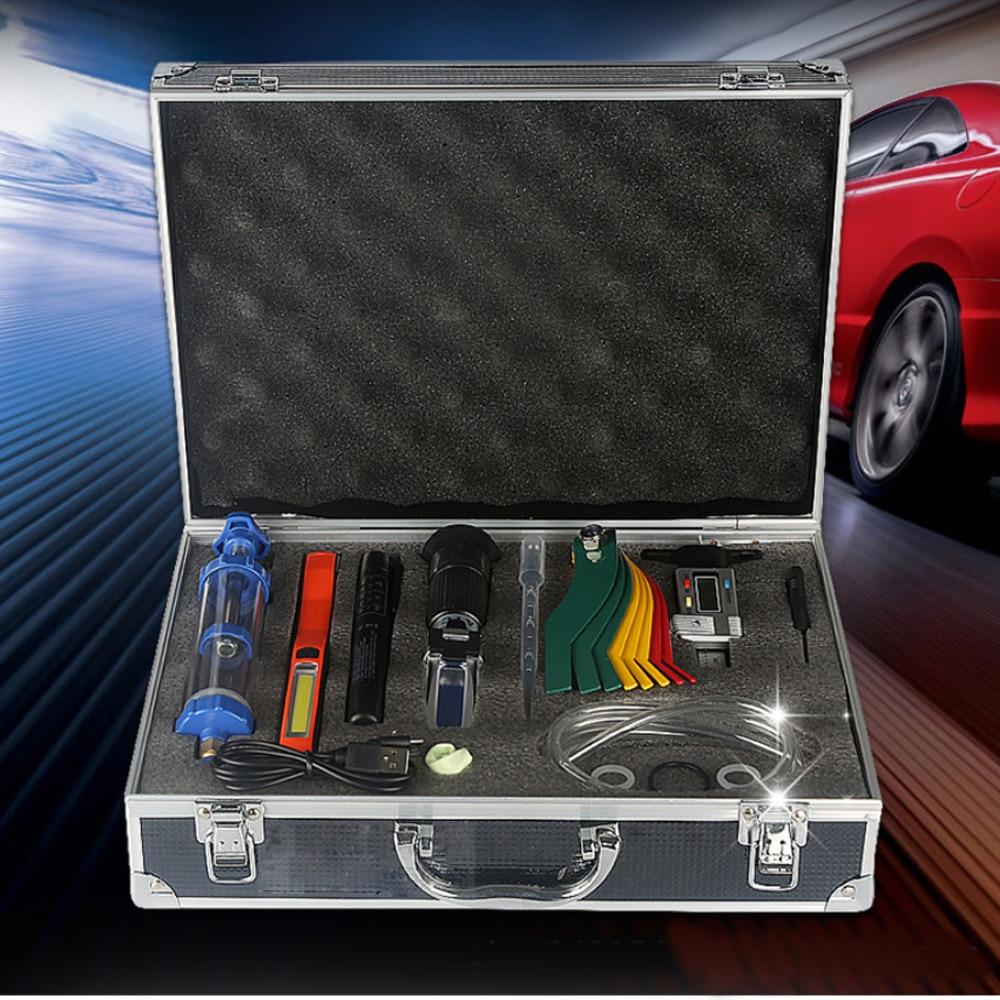 Car Brake Oil Detection Freezing Point Tester Oil Comparison Car Repair Kit Tire Tread Ruler Tool