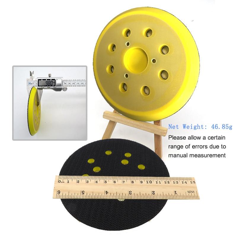 1 pz 5 pollici 125 mm 8 fori tampone per levigatura di backup - Utensili abrasivi - Fotografia 5
