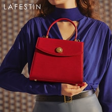 LA FESTIN Designer Handbag 2021 New Trendy Water Ripple Retro Shoulder Messenger Leather Bag Luxury