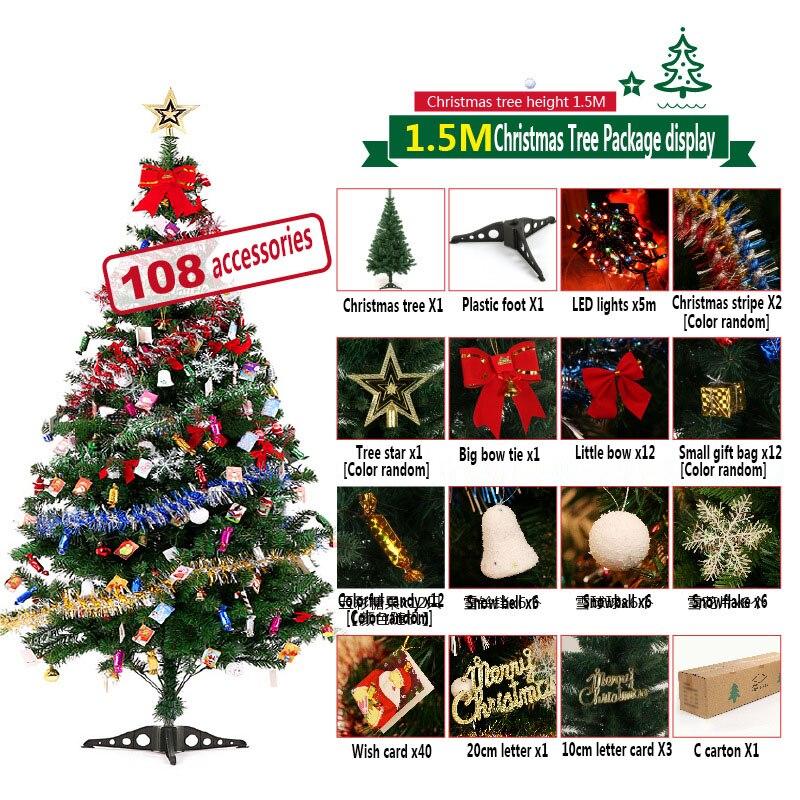 SD01 1,5 m árbol De Navidad Paquete De 150cm encriptado árbol De...