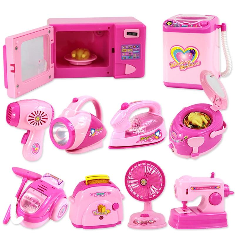 Mini Size Household Appliances Kitchen Toys Children Pretend Play Kitchen Accessories Toy Toaster Co