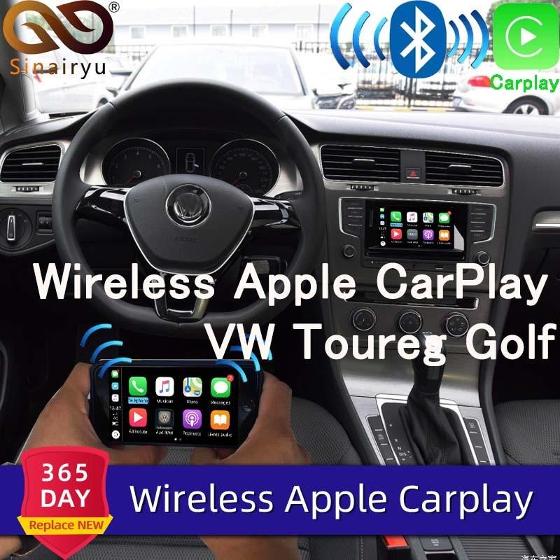 Sinairyu Wifi inalámbrico Apple Car Play Carplay actualización para 2010-2017 Volkswagen con iOS 13 Android espejo Cámara inversa