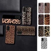toplbpcs fashion tiger leopard print panther phone case for samsung s 4 6 7 5 8 9 10 20 plus lite edge s10 5g
