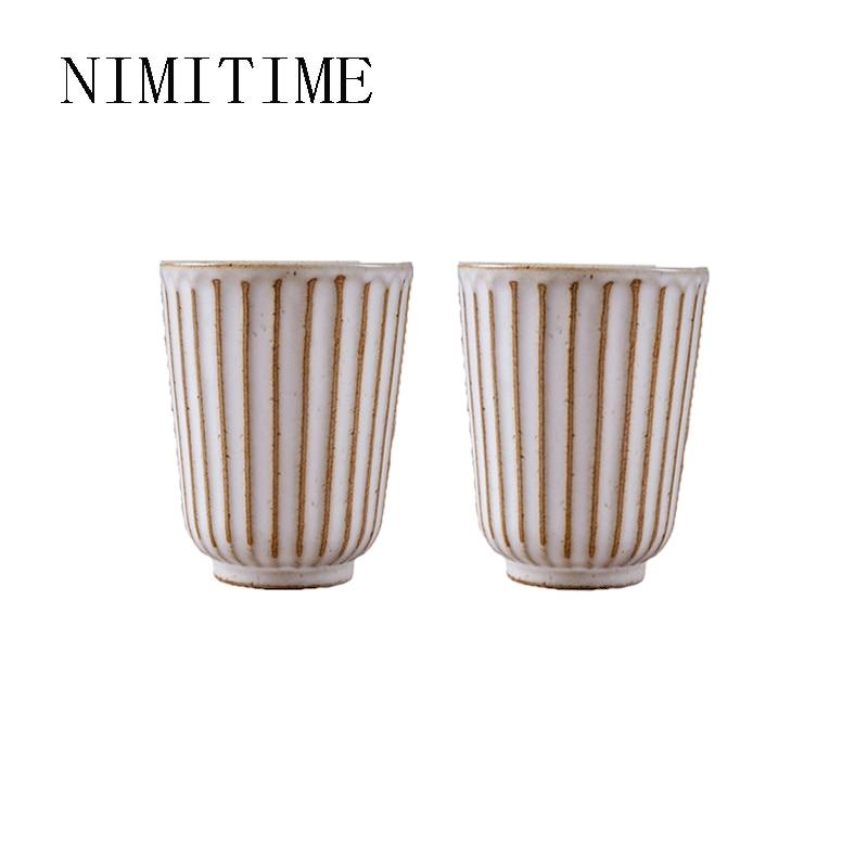 NIMITIME japonés y coreano de cerámica pulido a mano taza jarra para agua hogar desayuno café taza de agua para oficina par pareja taza