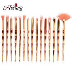Pincéis cosméticos com gradiente de cor, conjunto de maquiagem para sombra de olho, cerdas macias, de novidade, kit de ferramentas de beleza, 15 peças
