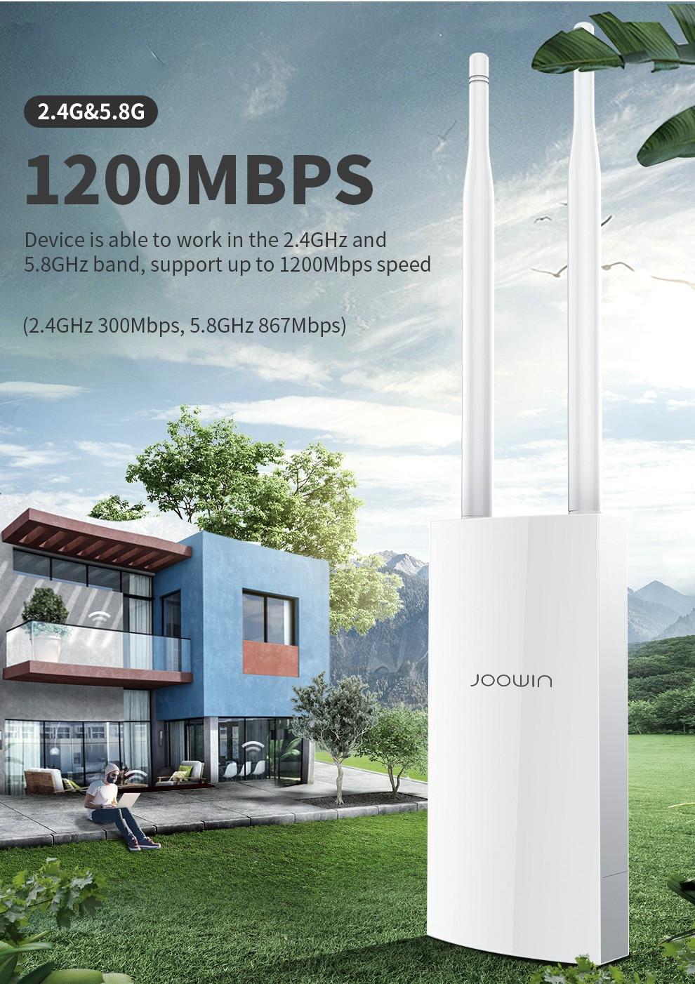 1200 mbs 80211ac roteador ap sem fio ao ar livre de banda dupla 24 58ghz wifi repetidor