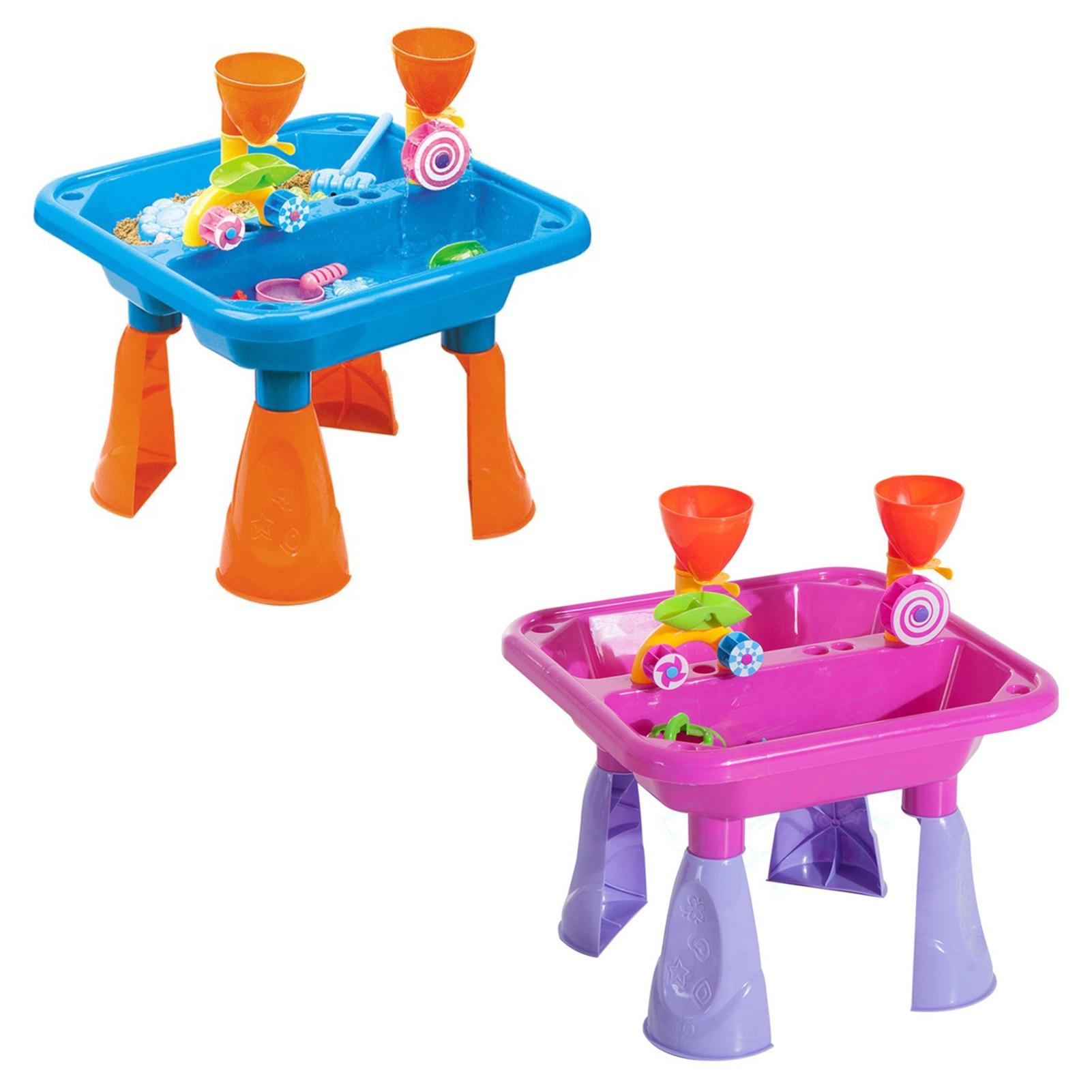 Детская пляжная стол песок игрушки для детей набор для песок инструменты для копания летняя детская песочница родитель-ребенок интерактив...