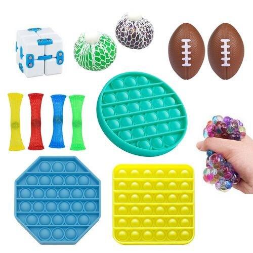 23Pcs Zintuiglijke Speelgoed Set Duurzaam Decompressie Sress Reliver Speelgoed Eenvoudige Kuiltje Fidget Speelgoed Set Pack enlarge