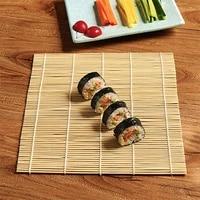 kitchen bamboo sushi mat no sushi roll hand made home sushi tools onigiri onigiri bamboo cooking accessories bamboo mat