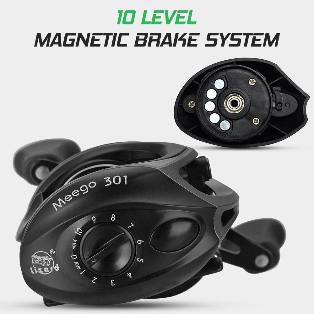 Lightweight High Speed 9.1:1 Gear Ratio Baitcast Fishing Reel 19+1 Ball Bearings Baitcasting Fishing Reel Baitcaster Tackle enlarge