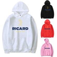 Hoodies Sweatshirts Men RICARD Hoodie Sweat-shirt Streetwear Hoodie Pink Clothing Polerone Winter Cl