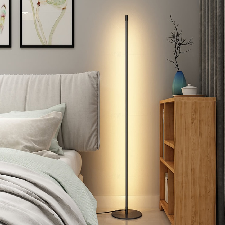Modern LED Floor lamp Bedroom Bedside Decoration Floor Light Living Rom Art Decor Indoor Atmospheric Standing Stand Lighting